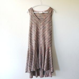 Anthro | Maeve Chevron Crocheted Drop Waist Dress